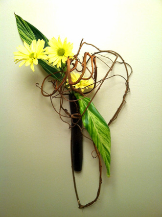 Ikebana Relief Flower Arrangement
